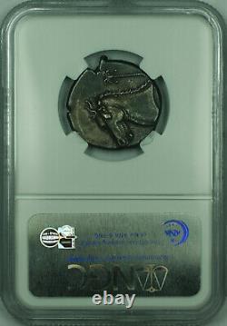 C. 320-300 Av. J.-c. Ar Tetradrahm Ancienne Pièce D'argent Sicile Siculo-punic Ngc Xf Msk