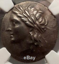 Caria Alabanda 197bc Pegasus Sur Une Authentique Monnaie Grecque En Argent Certifiée Ngc Ch Vf