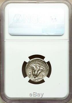 Carie Rhodes Grec Ar Didrachme (1/2 Tetradrachm) Coin 250bc Helios & Rose Ngc Xf