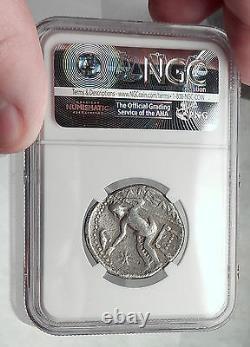 Celtes Celtiques Argent Tetradrachme Pièce Roi Grec Alexandre Le Grand Ngc I61971