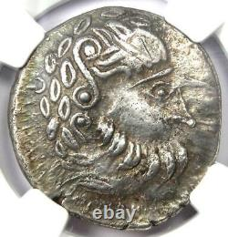 Celtes Liegendem Achter Ar Tetradrachm Silver Coin 200 Bc Certified Ngc Xf (ef)