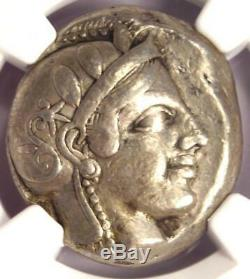 Chouette Athènes Antique Grèce Athena Tetradrachm Coin (early 455-440 Bc) Ngc Vf