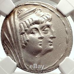 Cleopatra Thea & Antiochos VIII 122bc Seleukid Tetradrachm Grec Coin Ngc I69795