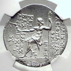 Cleopatra Thea & Antiochos VIII 122bc Séleukide Tétradrachme Pièce Grecque Ngc I72393