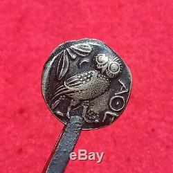 Coin Grec Ancien Attique Athènes Chouette Tétradrachme D'argent 450 Bc