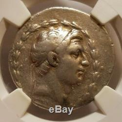 Demetrius I Royaume Séleucide 162-150 Bc Ar Tetradrachm Argent Ngc Choix Fin