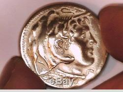 Egypte Ptolémée I As Satrap Grande Pièce D'argent Alexandre Le Grand Bouclier D'athéna