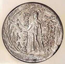 Grèce Antiochus VII Ar Bible Tetradrachm Coin (138-129 Bc) Certifié Ngc Au