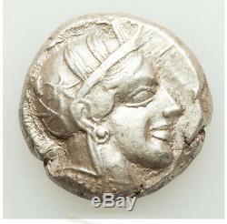 Grèce Antique 440-404bc Attique Athènes Ar Tétradrachme Au Ligne Droite Couleur Brite