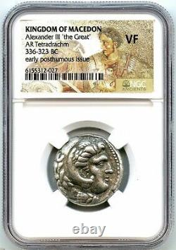 Grèce Antique, Alexandre Le Grand Tétradrachme D'argent 336 Av. J.-c., Ngc Vf, Très Nice