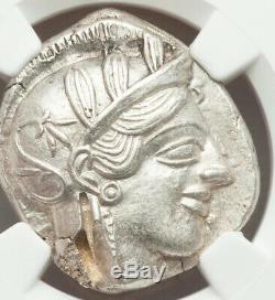 Grèce Antique Athènes 440-404bc Ar Tétradrachme Ngc Au 5/5 2/5 Petit Obv Test Cut