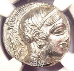 Grèce Antique Athènes Athena Owl Tetradrachm Coin (440-404 Bc) Ngc Ms (unc)