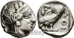 Grèce Antique Attique Athènes Tétradrachme Hibou Argent Athena Authentique Pièce Antique