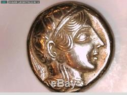 Grèce Grecque Attique Athènes Tétradrachme Argent Hibou Pièce De Monnaie Athéna Graduation Sagesse