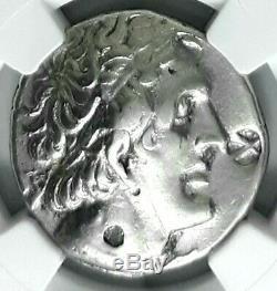 II Philadelphe Ptolemy Egypte Ancienne 261 Av. Argent Grec Tetradrachm Ngc Coin