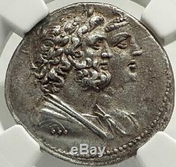IV & Ptolemy Arsinoé 219bc Ascalon Argent Grec Tetradrachm Ngc Chxf Fin De Style