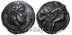 Kings De Paeonia. Lykkeios. Circa 358 / 6-335 Bc. Ar Tetradrachm Ngc Ch Au
