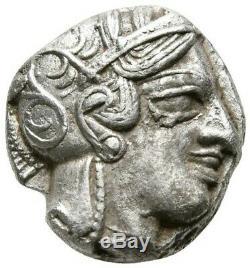 Le Grec Ancien. Attique. Athènes. 454-404 Avant Notre Ère. Tétradrachme Athena / Owl Silver Coin