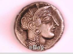 Lot De 30 Monnaies Grecques Grèce Attique Athènes Tetradrachm Silver Plate Owl Athena