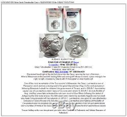 Lysimachos Pièce De Tétradrachme Grecque En Argent Avec Alexandre III Le Grand Ngc I73060