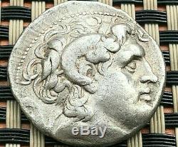 Lysimaque, Roi De Thrace 305-281 Bc Ar Tetradrachm Alexander III & Athena