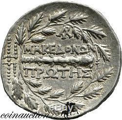 Macédoine Celtique Règle Romaine Argent Tétradrachme Premier Méris Artémis 167-149 B. C