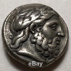 Macedon Ancienne, Philippe II Ar Tetradrachm De Amphipolis 359-336 Bc