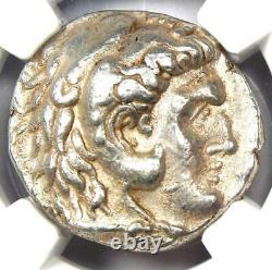 Macedon Demetrius I Poliorcetes Ar Tetradrachm Pièce 306-283 Bc Ngc Choice Vf