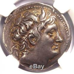 Macedon Dimitrios I Er Poliorcète Ar Tetradrachm Coin 306-283 Bc Ngc Choix Vf