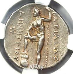 Macedon Dimitrios I Er Poliorcète Ar Tetradrachm Coin 306-283 Bc Ngc Xf Choix
