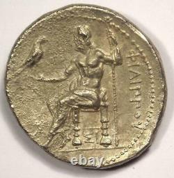 Macedon Philip III Ar Tetradrachm Pièce 323-317 Av. J.-c. Sharp Xf Condition