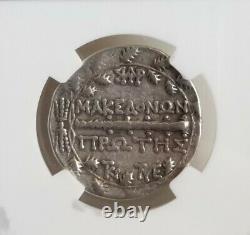 Macedon Sous Rome Tetradrachm Artemis Ngc Vf Pièce D'argent Antique