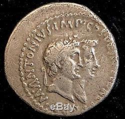 Mark Antony & Octavia 39bc Argent Romaine Antique Cistophoric Tetradrachm 11.77g