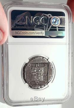 Mende In Macedonia Rare Monnaie De Tétradrachme Grec 460bc Argent Ancien Ngc I69560