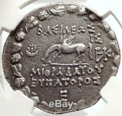 Mithridate VI Le Grand Ancien 88bc Argent Grec Tetradrachm Monnaie Ngc I66669