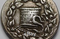 Mysia Pergamon Cistophoric Tetradrachm Serpent Cistá Argent Grec Sharp Détails