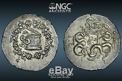Mysia, Pergamon Ngc Ch Au 5/5 4/5 Ar Tetradrachm Cistophoric Top Au! -115