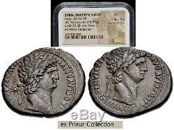 Nero (ad 54-68) Avec Divus Claudius Ar Tétradrachme Ex Michel Prieur Collection