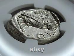 Ngc Au 4/5, 4/5 Athens Owl Ar Tetrachm 440-404 Bc. Près De Full Crest