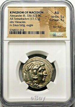 Ngc Au 5 / 5-4 / 5. Alexandre Le Grand. Exquis Tetradrachm. Grecque Silver Coin