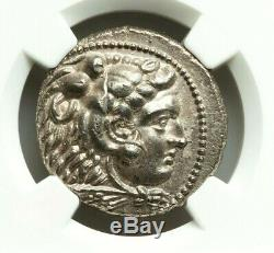 Ngc Au. Alexandre Le Grand. Tetradrachm Superbe. Grec Ancien Silver Coin