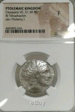 Ngc Authenticatec Ptolémaïque Cléopâtre VIL 51-30 Bce Bl Tetradrachm De Type Rare