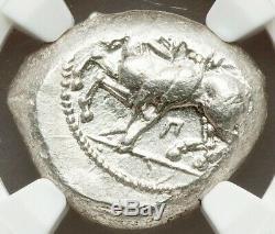 Ngc Certifié Cilicie Celenderis 425-350 Bc, Ar Stater, Choix Au 3/5 4/5 Brite