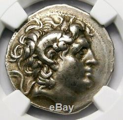 Ngc Ch Vf Lysimaque Tetradrachm. Portrait D'alexandre Le Grand. Silver Coin
