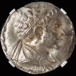Ngc Ms (ca. 145-140 Av. J.-c.) Bactrian Royaume Eucratides II Soter Argent Tétradrachme