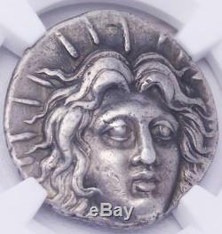 Ngc Vf Pièce De Monnaie Tétradrachme Rhodes Grecques Hélios Vers Iiie Siècle Av. J.-c.