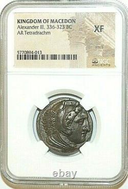 Ngc Xf Alexander III Pièces D'argent Grec Antique Ar Tetradrachm 336-323 Bc Max029