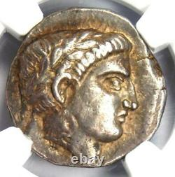 Paeonia Patraus Ar Tetradrachm Silver Apollo Coin 335-315 Av. J.-c. Ngc Choice Xf (ef)