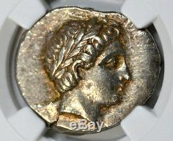 Paeonia, Patraus Tétradrachme D'argent (335-315 Bc) Xf Choix Ngc 4/5 5/5
