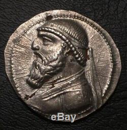 Parthian Kingdom Mithridate II 121-91 Bc Ar Tetradrachm Ngc Au 5/4 Arsace Bow
